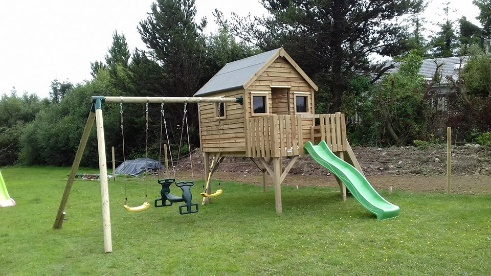 The Forest Playhouse Climbing Frame | Just Fun Playtowers